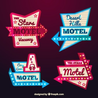 Sinais luminosos do motel