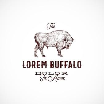 Sinal abstrato de búfalo, símbolo ou modelo de logotipo.