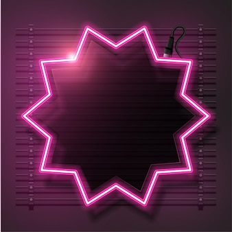 Sinal abstrato rosa estrela