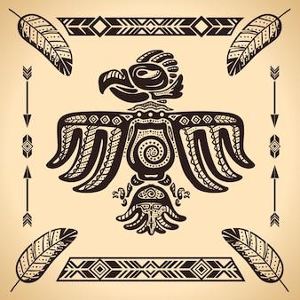 Sinal de águia americana tribal