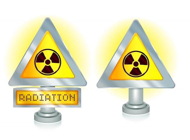 Sinal de alerta de radiação