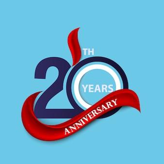Sinal de aniversário e logotipo