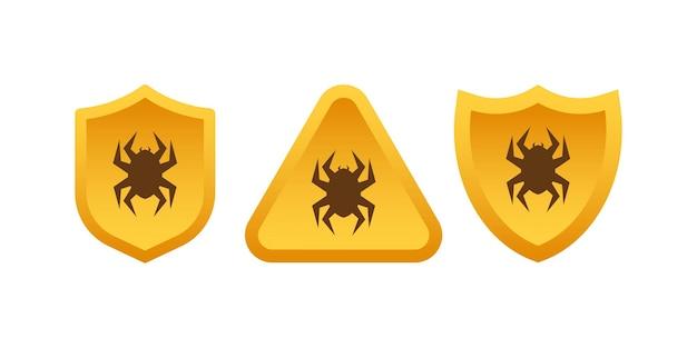 Sinal de atenção ao vírus. ilustração em vetor das ações.