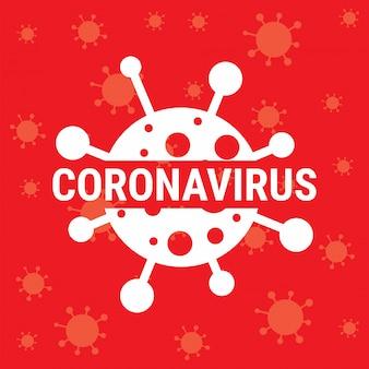 Sinal de aviso de coronavírus.