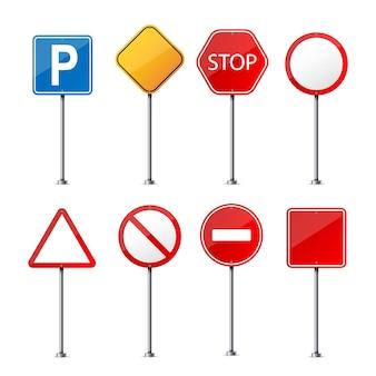 Sinal de aviso de estrada