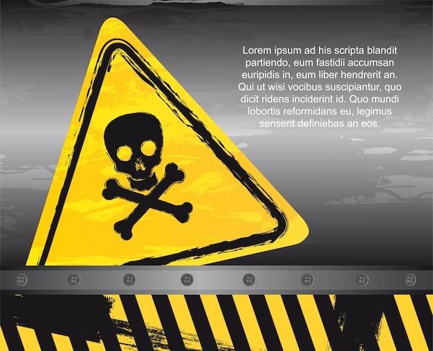 Sinal de aviso de perigo
