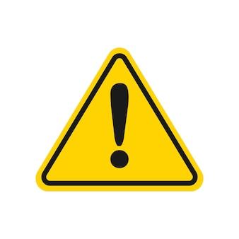 Sinal de aviso de triângulo amarelo ilustração do símbolo de cuidado