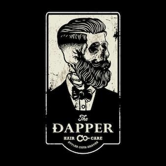 Sinal de barbearia vintage