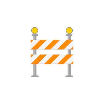 Sinal de barreira de estrada