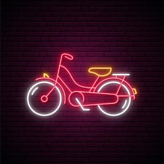 Sinal de bicicleta de néon.
