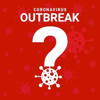 Sinal de cartaz de surto de coronavírus