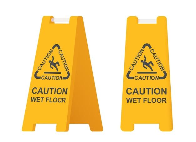 Sinal de chão molhado.