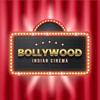 Sinal de cinema de bollywood realista