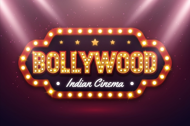 Sinal de cinema de bollywood realista