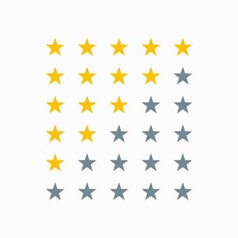 Sinal de classificação por estrelas limpo