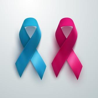 Sinal de conscientização do câncer de mama e próstata