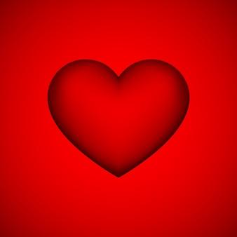 Sinal de coração abstrato vermelho