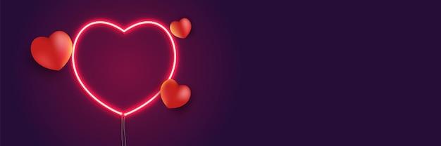 Sinal de coração de néon e forma de coração. coração de um brilho vermelho. ilustração vetorial