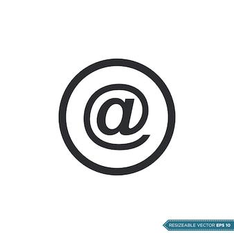 Sinal de e-mail ui / ux ícone vector símbolo ilustração design