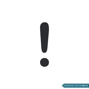 Sinal de exclamação ui / ux icon vector symbol illustration design