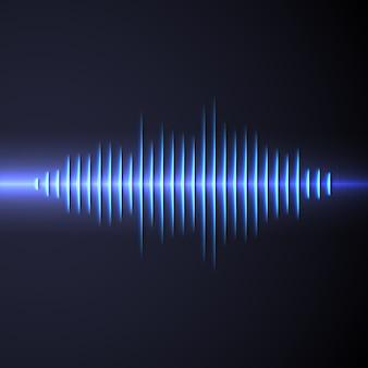 Sinal de forma de onda sonora com sombra