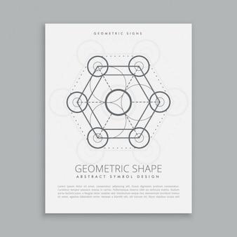 Sinal de geometria sagrada e símbolo
