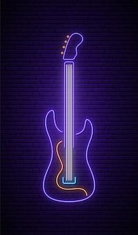 Sinal de guitarra de néon.