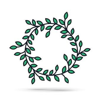 Sinal de ícone de ilustração simples de grinalda