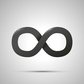 Sinal de infinito simples preto