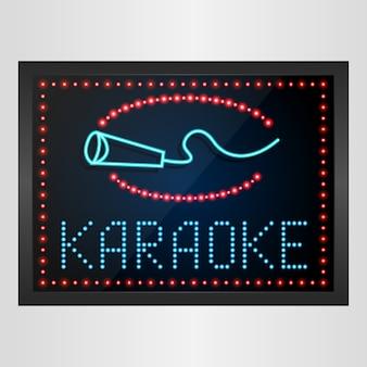 Sinal de karaoke de banner de painel de led brilhante