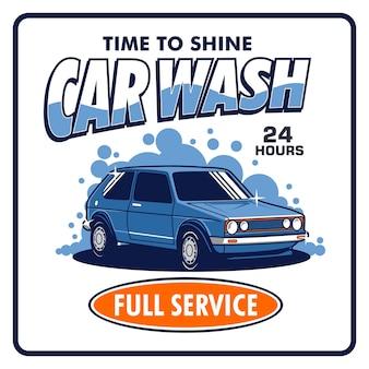 Sinal de lavagem de carros