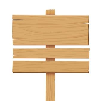 Sinal de madeira isolado no fundo branco