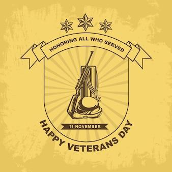 Sinal de medalha modelo dos dias dos veteranos