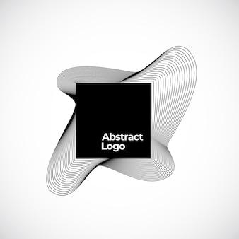 Sinal de mistura abstrata, símbolo ou modelo de logotipo.