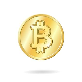 Sinal de moeda bitcoin