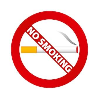 Sinal de não fume. ilustração vetorial.