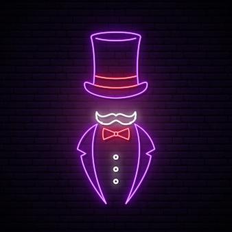 Sinal de néon cavalheiro.