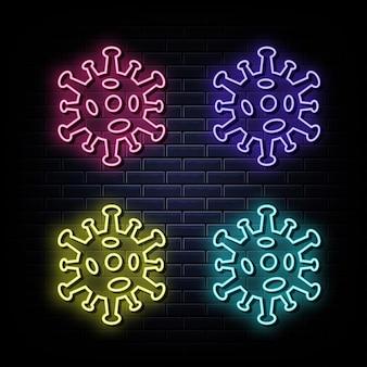 Sinal de néon corona, símbolo de néon