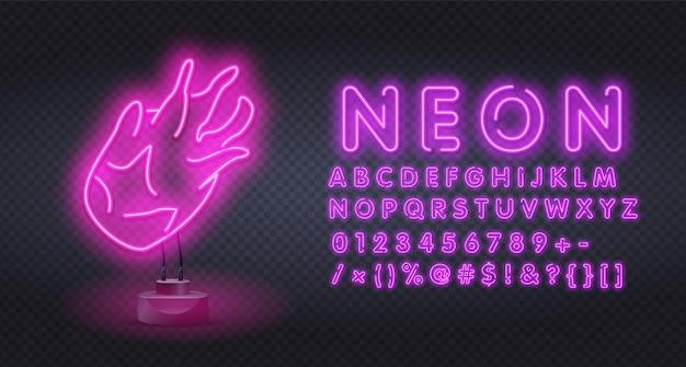 Sinal de néon da fruta pitaya de néon. luz de néon de fruta do dragão