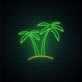 Sinal de néon da palma.