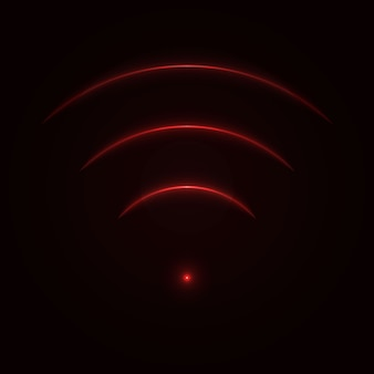 Sinal de néon de brilho wi-fi.