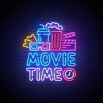 Sinal de néon de cinema