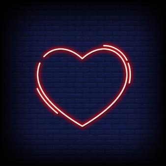 Sinal de néon de coração