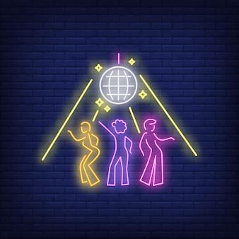 Sinal de néon de discoteca