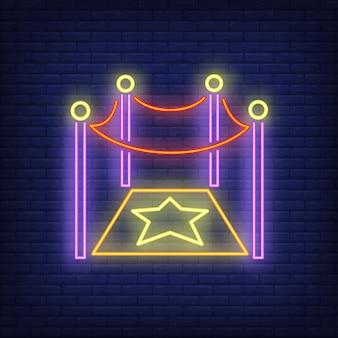 Sinal de néon de estrela de hollywood