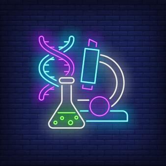 Sinal de néon de laboratório