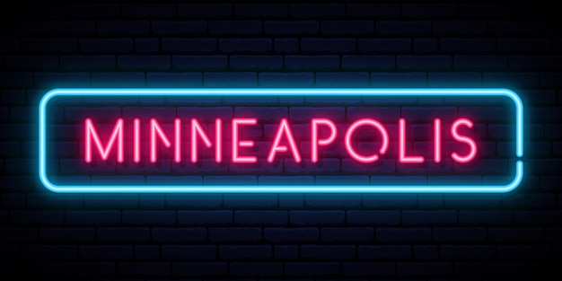 Sinal de néon de minneapolis.