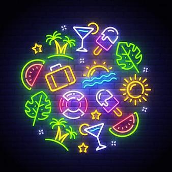 Sinal de néon de verão