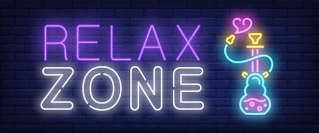 Sinal de néon de zona de relaxamento