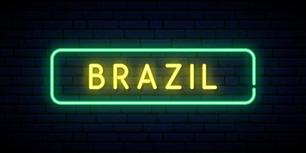 Sinal de néon do brasil.